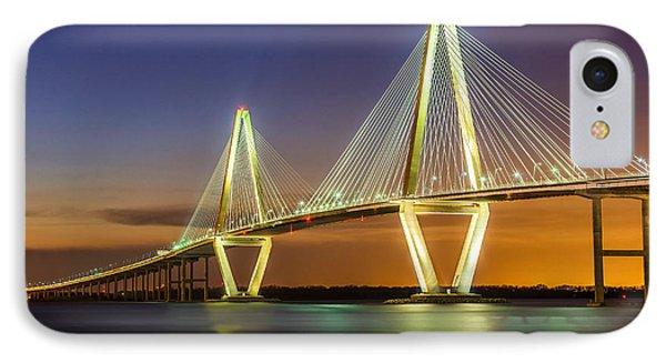Arthur Ravenel Bridge Charleston Sc IPhone Case by Anthony Heflin