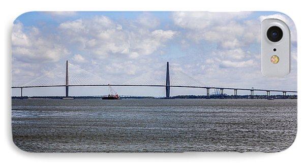 IPhone Case featuring the photograph Arthur Ravenel Bridge by Sennie Pierson
