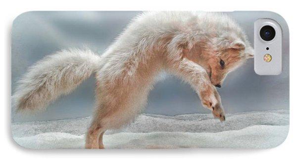 Artic White Wolf IPhone Case by Joan  Minchak