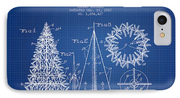 Artifical Christmas Tree Patent From 1927 - Blueprint IPhone Case
