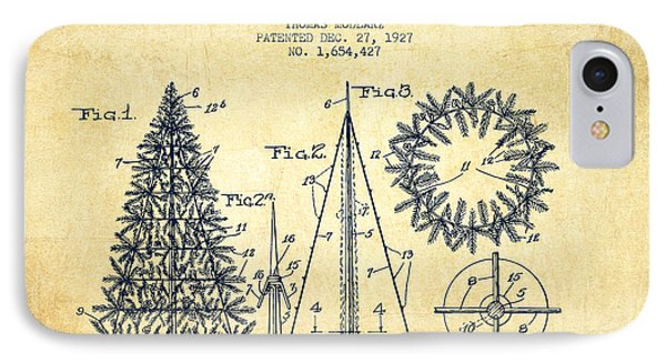 Artifical Christmas Tree Patent From 1927 - Vintage IPhone Case