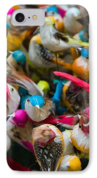 Artificial Birds For Sale At A Market IPhone Case by Panoramic Images