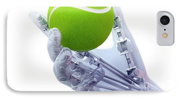 Artificial Hand Holding A Tennis Ball IPhone Case by Andrzej Wojcicki