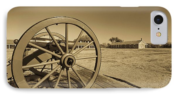 Artillery At Fort Larned National IPhone Case by Panoramic Images