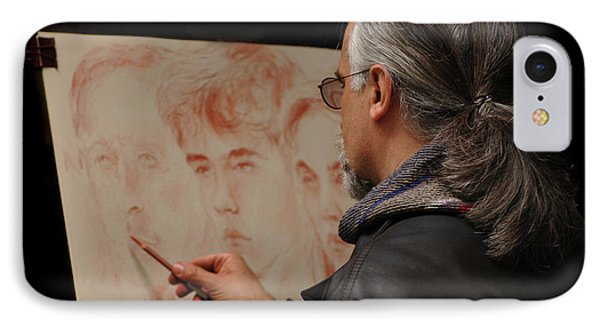 Artist At Work Florence Italy Phone Case by Bob Christopher