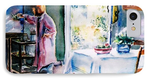 Artist At Work In Summer  IPhone Case by Trudi Doyle