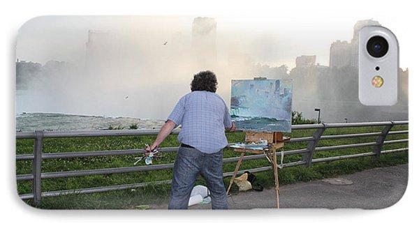 Artist At Work Niagara Falls Ny IPhone Case by Ylli Haruni