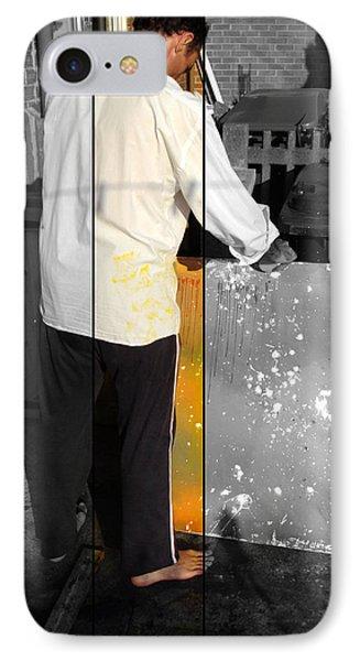 Artist At Work Part Two Phone Case by Sir Josef - Social Critic -  Maha Art