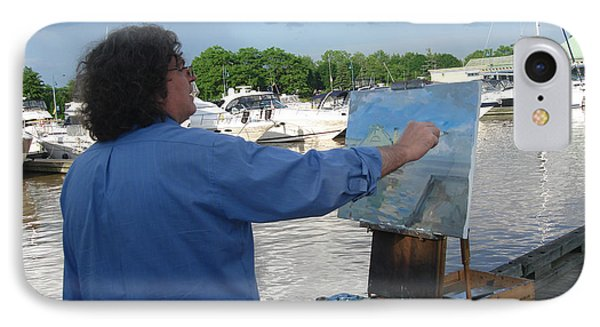 Artist At Work Port Credit Mississauga On IPhone Case by Ylli Haruni