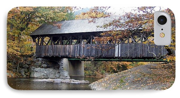 Artist Covered Bridge IPhone Case by Catherine Gagne