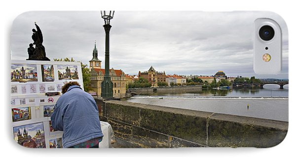 Artist On The Charles Bridge - Prague Phone Case by Madeline Ellis