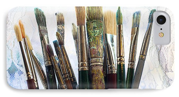 Artist Paintbrushes Phone Case by Garry Gay