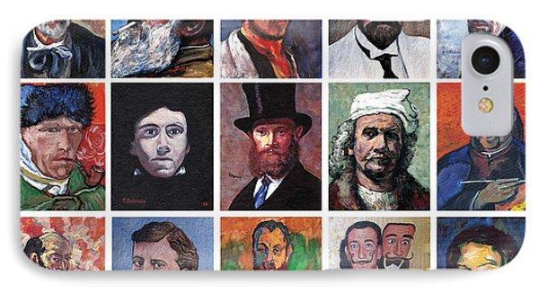 Artist Portraits Mosaic Phone Case by Tom Roderick