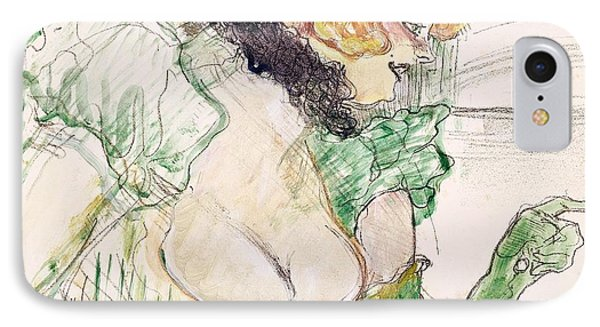 Artist With Green Gloves - Singer Dolly From Star At Le Havre Phone Case by Henri de Toulouse Lautrec
