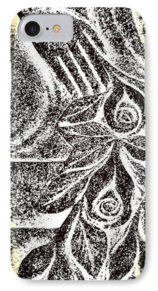 Artistic Hand And Flowers IPhone Case by Pat Exum