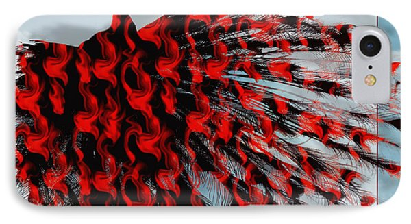 Artistic Red Peacock IPhone Case