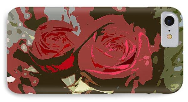 Artistic Roses IPhone Case by Karen Nicholson