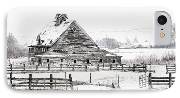 Artistic Winter Barn IPhone Case