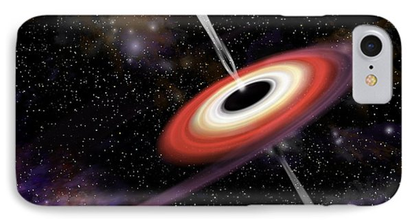 Artists Depiction Of A Black Hole IPhone Case