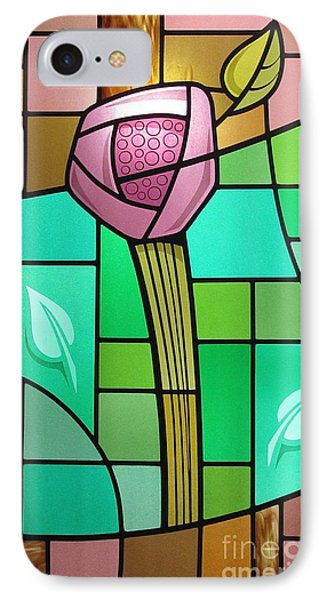 Arts And Crafts Rose IPhone Case by Gilroy Stained Glass