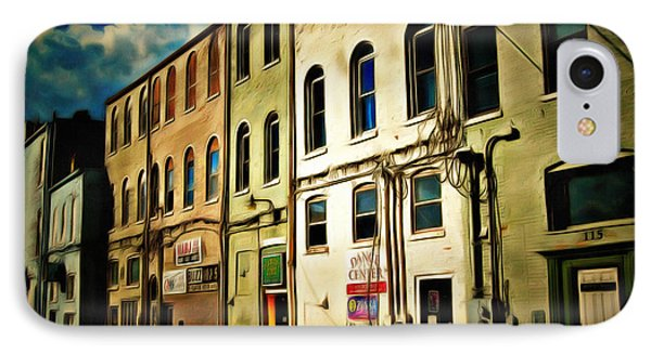 Arts In The Alley IPhone Case by MJ Olsen