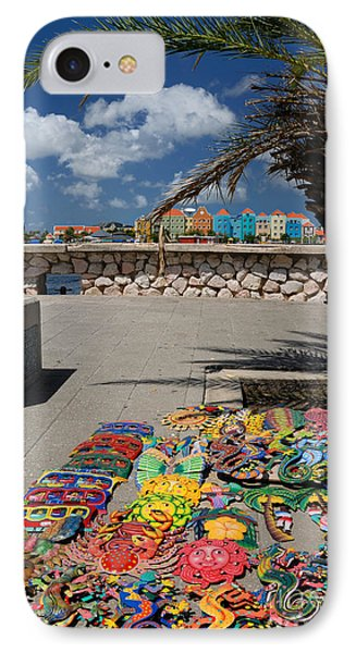 Artwork At Street Market In Curacao Phone Case by Amy Cicconi