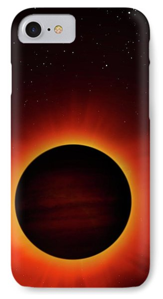 Artwork Of Exoplanet Eclipsing Its Star IPhone Case