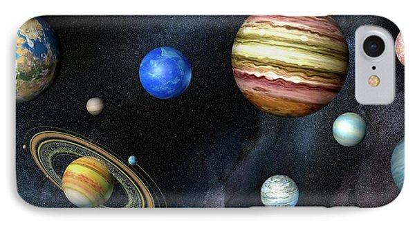 Artwork Of Exoplanets IPhone Case by Henning Dalhoff