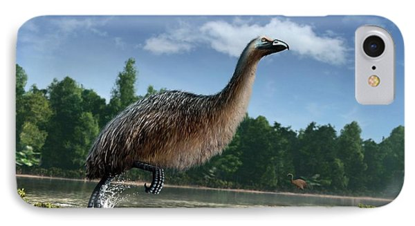 Artwork Of Giant Moa In New Zealand IPhone Case by Mark Garlick