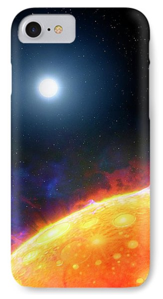 Artwork Of Molten Planet Kepler 70b IPhone Case by Mark Garlick