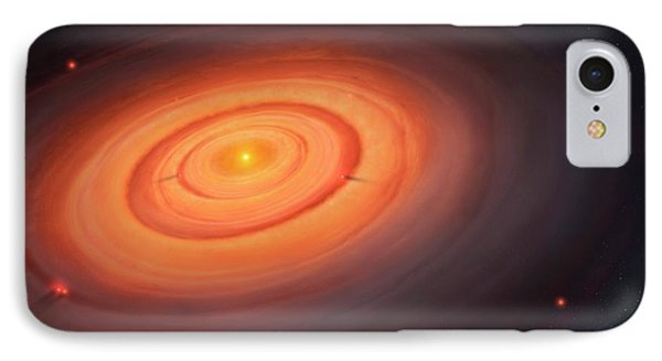 Artwork Of The Solar Nebula IPhone Case by Mark Garlick