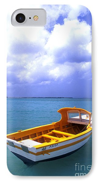 Aruba. Fishing Boat IPhone Case by Anonymous