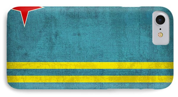 Aruba Flag Vintage Distressed Finish IPhone Case