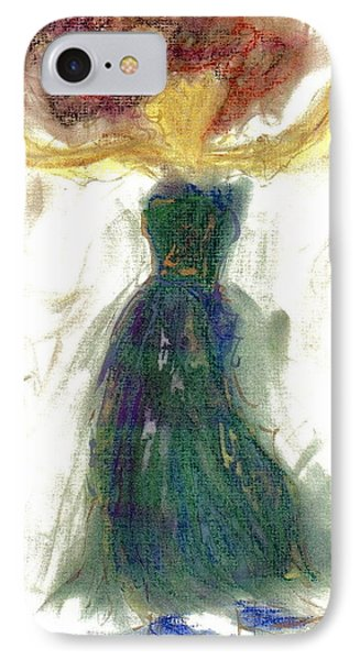 IPhone Case featuring the painting as if Dancing in Heaven by Lesley Fletcher