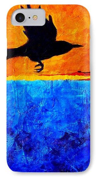 As The Crow Flies Phone Case by Nancy Merkle