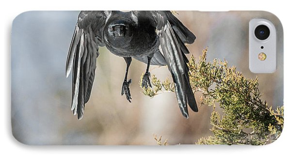 As The Crow Flies Square IPhone Case by Bill Wakeley