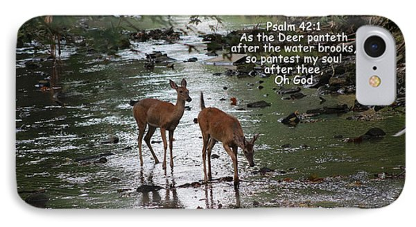 As The Deer Pants For Water IPhone Case by Lorna Rogers Photography