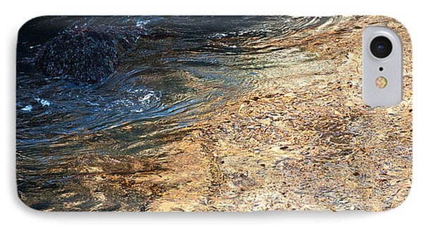 As The Ocean Wave Swirled It Looked Like Gold Phone Case by Artist and Photographer Laura Wrede