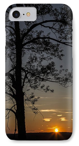 As The Sun Fades Behind The Mountian IPhone Case