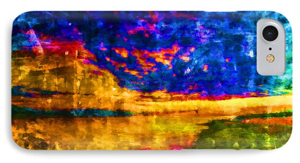 IPhone Case featuring the painting As The World Ends by Joe Misrasi