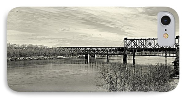 IPhone Case featuring the photograph Asb Bridge Over The Missouri River by Karen Kersey