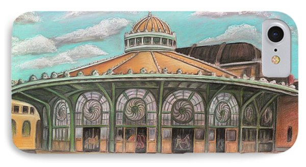 Asbury Park Carousel House IPhone Case by Melinda Saminski