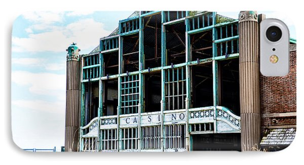 Asbury Park Casino - My City In Ruins Phone Case by Bill Cannon