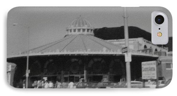 Asbury Park Nj Carousel Bw Phone Case by Joann Renner