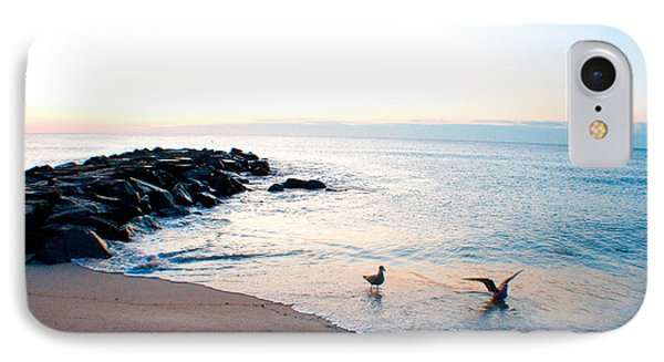 IPhone Case featuring the photograph Asbury Seagulls by Jon Emery
