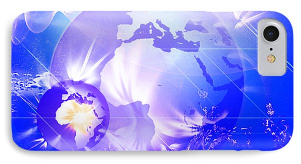 Ascending Gaia IPhone Case by Ute Posegga-Rudel