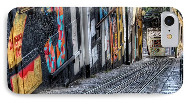 Ascensor Do Lavra Lisbon IPhone Case by Carol Japp
