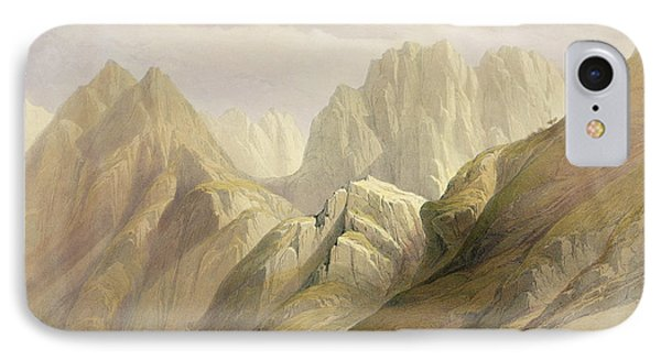 Ascent Of The Lower Range Of Sinai Phone Case by David Roberts