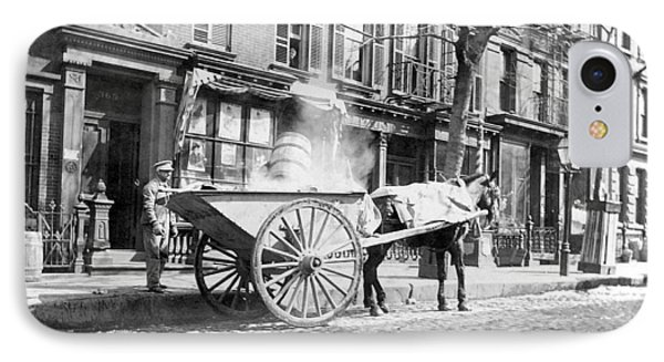 Ash Cart New York City 1896 IPhone Case by Unknown