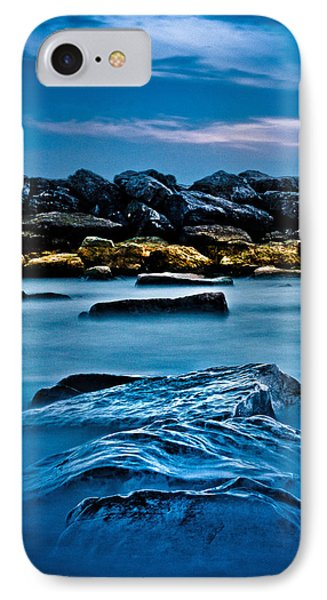 IPhone Case featuring the photograph Ashbridges Bay Toronto Canada Breakwall 4 by Brian Carson